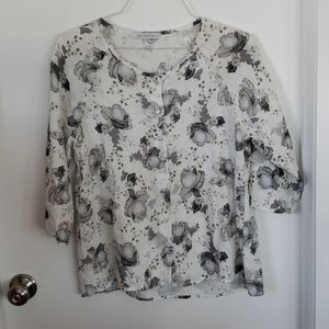 CUT LOOSE BOTTON DOWN BLOUSE